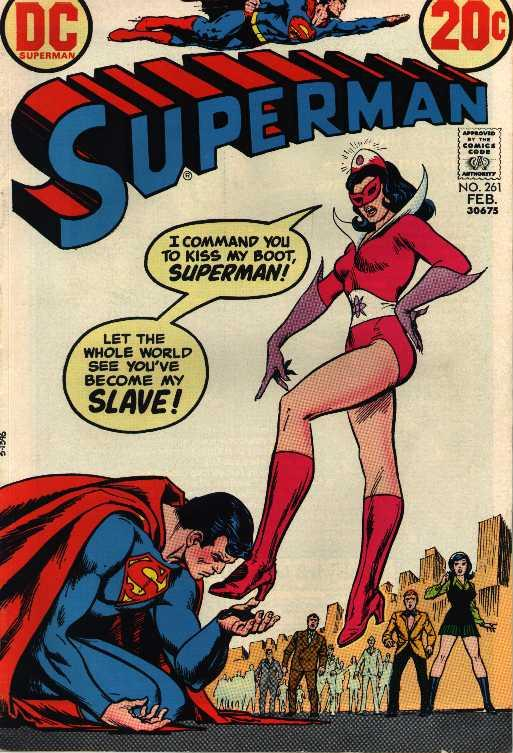 Superman kneeling and 
